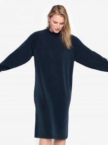 Tmavě modré oversize šaty Selected Femme Tea
