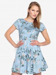 Modré květované šaty French Connection Kioa