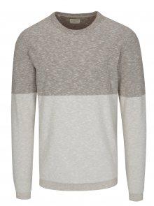 Béžový žíhaný svetr Selected Homme Tyga