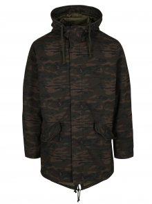 Khaki maskáčový kabát s kapucí Jack & Jones New Bento