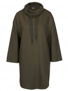 Khaki mikinové šaty s rolákem Jacqueline de Yong Asta