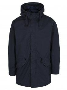 Tmavě modrý kabát s kapucí Jack & Jones New Bento