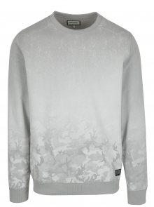 Krémovo-šedá mikina s maskáčovým vzorem Shine Original
