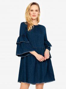 Tmavě modré džínové šaty se zvonovým rukávem ONLY Flynn