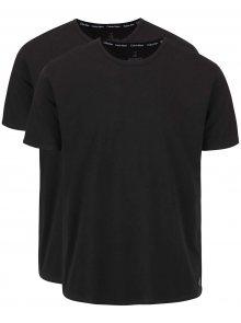 Sada dvou pánských trik v černé barvě s kulatým výstřihem Calvin Klein