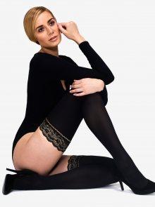 Černé samodržící punčochy Andrea Bucci Lace Top 50 DEN