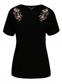 Černé tričko s výšivkou Dorothy Perkins