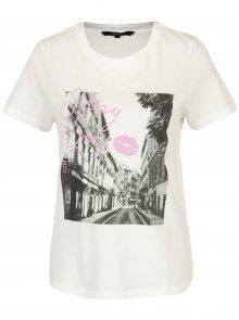 Krémové tričko s potiskem VERO MODA Nelik