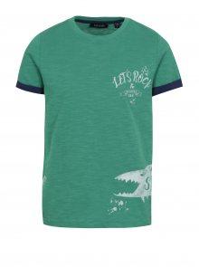 Zelené klučičí tričko s potiskem žraloka Blue Seven