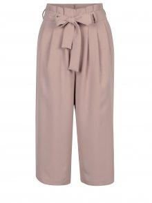 Starorůžové culottes kalhoty s mašlí ONLY Karolina