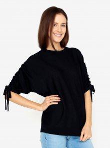 Tmavě modrý volný svetr s netopýřími rukávy VERO MODA Adriana