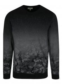 Šedo-černá mikina s maskáčovým vzorem Shine Original