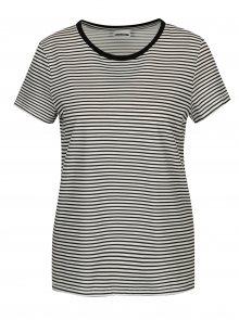 Bílo-černé pruhované tričko Noisy May Shelly
