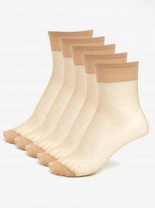 Sada pěti párů tělových punčochových ponožek Bellinda Fly 15 DEN