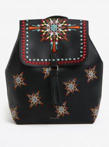 Černý batoh s výšivkou Desigual Sandy