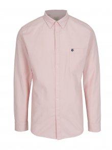 Světle růžová regular fit košile Selected Homme