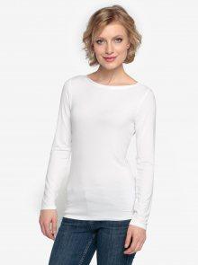 Bílé tričko s dlouhým rukávem Oasis Plain