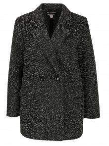 Tmavě šedý žíhaný lehký kabát Miss Selfridge Petites
