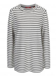 Černo-krémové dámské pruhované tričko s.Oliver