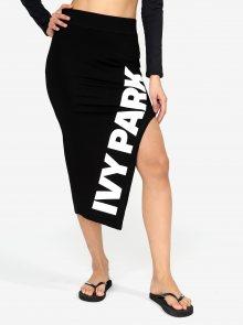 Černá asymetrická sukně s potiskem Ivy Park