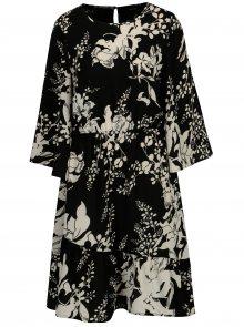 Černo-bílé květované šaty VERO MODA Kana