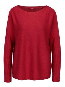 Červený dámský lehký oversize svetr s.Oliver