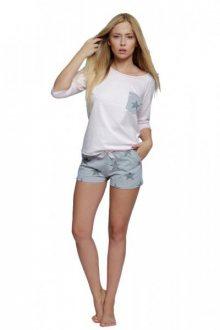 Sensis Star Dámské pyžamo XL růžovo-šedá