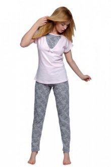 Sensis Elizabeth Dámské pyžamo XL růžovo-šedá
