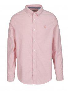 Růžová košile s dlouhým rukávem Original Penguin Oxford