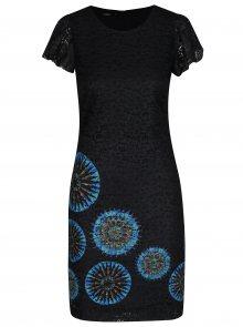Černé krajkové šaty s potiskem Desigual Dafne