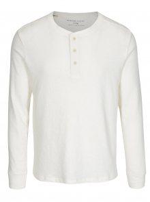 Krémové tričko s dlouhým rukávem Selected Homme Grand