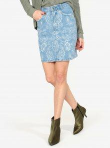 Modrá džínová vzorovaná sukně MISSGUIDED