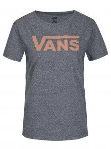 Šedé dámské žíhané tričko s potiskem Vans Flying