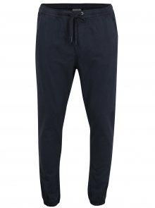 Tmavě modré kalhoty s gumou v pase Shine Original