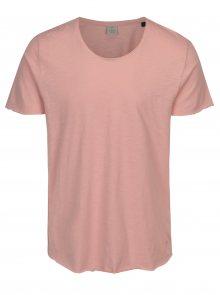 Růžové žíhané tričko Jack & Jones Bas