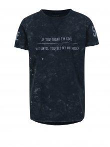 Tmavě modré klučičí tričko s potiskem name it Havis