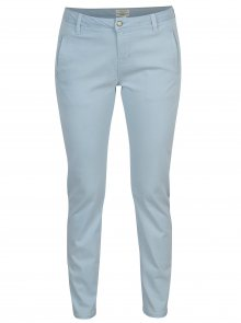 Světle modré chino kalhoty Selected Femme Ingrid