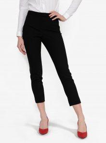 Černé zkrácené kalhoty Miss Selfridge