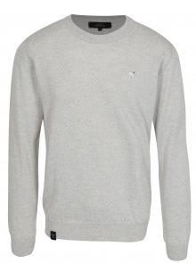 Světle šedý pánský lehký svetr z merino vlny Makia Merino