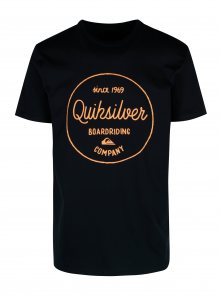 Tmavě modré pánské  regular fit tričko s potiskem Quiksilver