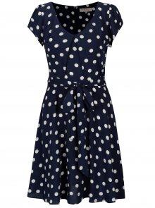 Tmavě modré puntíkované šaty Billie & Blossom