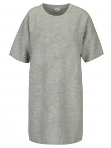 Světle šedé žebrované mikinové šaty Jacqueline de Yong Amara