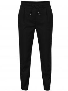 Černé kalhoty s gumou v pase VERO MODA Rory