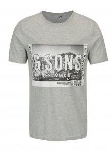 Šedé tričko s potiskem ONLY & SONS Stuart