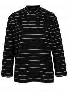 Černé pruhované tričko Jacqueline de Yong Gana