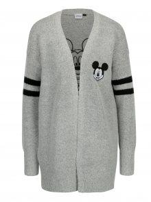 Šedý žíhaný kardigan s motivem Mickey Mouse TALLY WEiJL