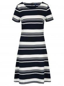 Modro-bílé pruhované šaty s krátkým rukávem GANT