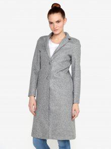 Šedý žíhaný kabát ZOOT