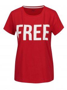Červené tričko s potiskem ONLY RIVA Free