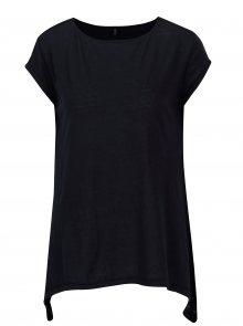 Tmavě modré průsvitné tričko s cípy ONLY Uma
